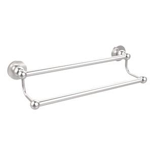 Satin Chrome 24 Inch Double Towel Bar