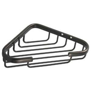 Satin Nickel Small Corner Shower Basket