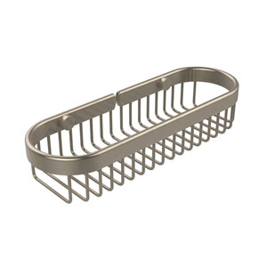 Oval Toiletry Wire Basket, Antique Pewter