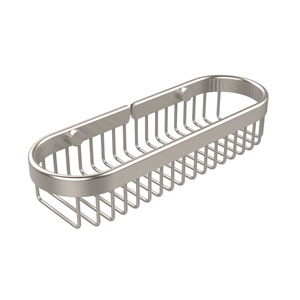 Oval Toiletry Wire Basket, Satin Nickel