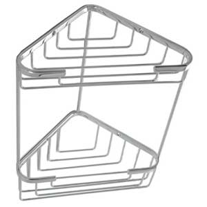 Polished Chrome Double Corner Shower Basket