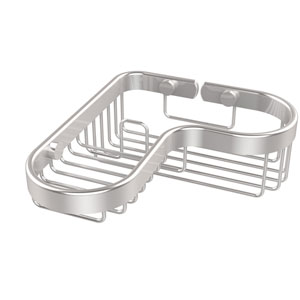Corner Combination Shower Basket, Satin Chrome
