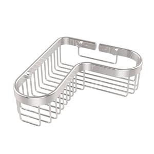 Corner Toiletry Shower Basket, Polished Chrome