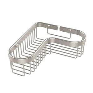 Corner Toiletry Shower Basket, Polished Nickel