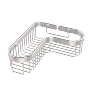 Corner Toiletry Shower Basket, Satin Chrome