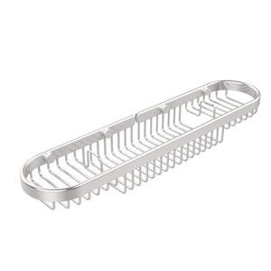 Oval Combination Shower Basket, Satin Chrome