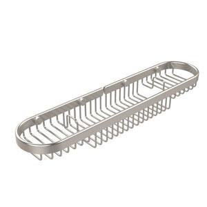 Oval Combination Shower Basket, Satin Nickel