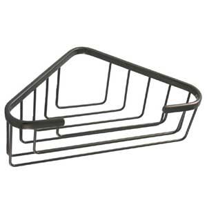 Satin Nickel Large Corner Shower Basket
