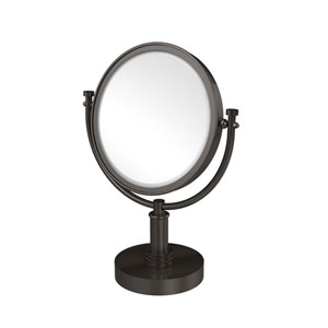 8 Inch Vanity Top Make-Up Mirror 4X Magnification, Oil Rubbed Bronze