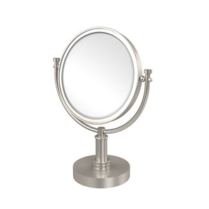8 Inch Vanity Top Make-Up Mirror 4X Magnification, Satin Nickel