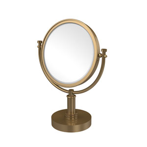 8 Inch Vanity Top Make-Up Mirror 5X Magnification, Brushed Bronze
