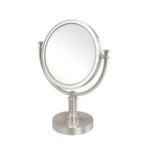 8 Inch Vanity Top Make-Up Mirror 5X Magnification, Polished Nickel