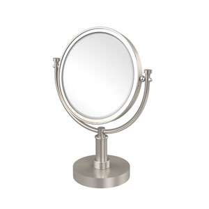 8 Inch Vanity Top Make-Up Mirror 3X Magnification, Satin Nickel