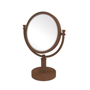 8 Inch Vanity Top Make-Up Mirror 5X Magnification, Antique Bronze