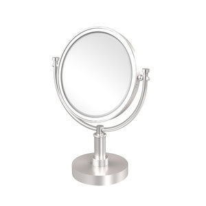 8 Inch Vanity Top Make-Up Mirror 5X Magnification, Satin Chrome