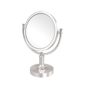 8 Inch Vanity Top Make-Up Mirror 4X Magnification, Polished Chrome