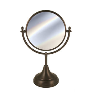 Antique Brass 8 Inch Mirror 4x Magnification 15 InchH