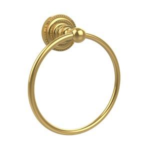 Dottingham Polished Brass Towel Ring