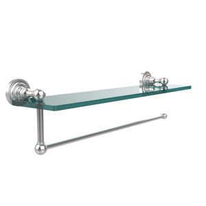 Dottingham Collection Paper Towel Holder with 22 Inch Glass Shelf, Satin Chrome