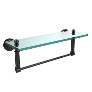 Dottingham Oil Rubbed Bronze Single Shelf with Towel Bar