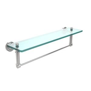 Polished Chrome Single Shelf with Towel Bar