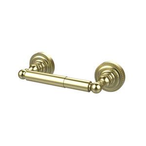 Satin Brass Double Post Toilet Paper Holder