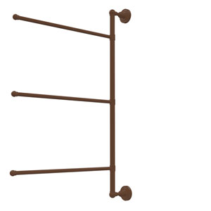 Dottingham Collection 3 Swing Arm Vertical 28 Inch Towel Bar, Antique Bronze