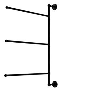 Dottingham Collection 3 Swing Arm Vertical 28 Inch Towel Bar, Matte Black