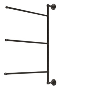 Dottingham Collection 3 Swing Arm Vertical 28 Inch Towel Bar, Oil Rubbed Bronze