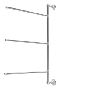 Dottingham Collection 3 Swing Arm Vertical 28 Inch Towel Bar, Polished Chrome