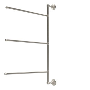 Dottingham Collection 3 Swing Arm Vertical 28 Inch Towel Bar, Polished Nickel
