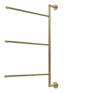 Dottingham Collection 3 Swing Arm Vertical 28 Inch Towel Bar, Satin Brass