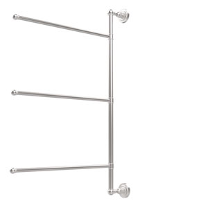 Dottingham Collection 3 Swing Arm Vertical 28 Inch Towel Bar, Satin Chrome
