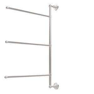 Dottingham Collection 3 Swing Arm Vertical 28 Inch Towel Bar, Satin Chrome