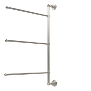 Dottingham Collection 3 Swing Arm Vertical 28 Inch Towel Bar, Satin Nickel