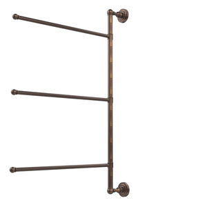 Dottingham Collection 3 Swing Arm Vertical 28 Inch Towel Bar, Venetian Bronze