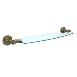 Antique Brass 18-Inch Single Shelf