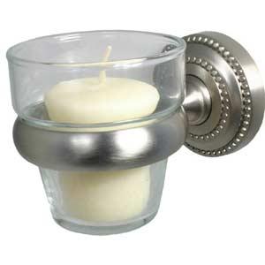 Dottingham Satin Nickel Votive Candle Holder