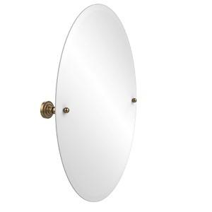 Dottingham Brushed Bronze 21 x 29 Oval Tilt Mirror