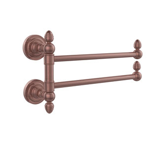 Dottingham Collection 2 Swing Arm Towel Rail, Antique Copper