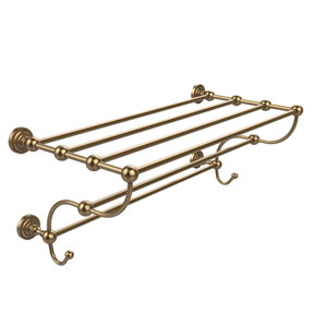 Dottingham Collection 36 Inch Train Rack Towel Shelf, Brushed Bronze