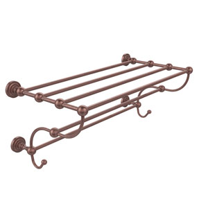 Dottingham Collection 36 Inch Train Rack Towel Shelf, Antique Copper