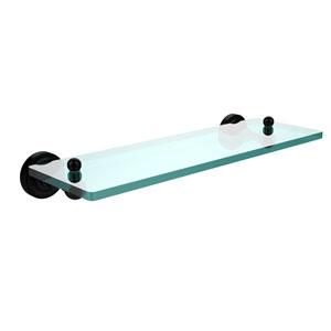 Dottingham Matte Black 16 Inch Single Shelf