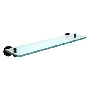 Dottingham Matte Black 22 Inch Single Shelf
