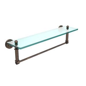 Dottingham Venetian Bronze 22x5 Glass Shelf w/ Towel Bar
