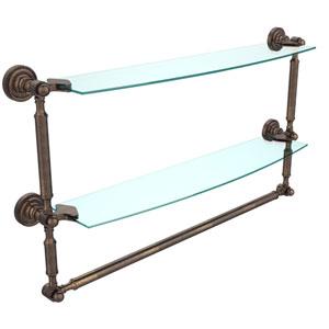 Dottingham Venetian Bronze 24 Inchx5 InchDouble Shelf w/ Towel Bar
