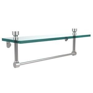 Foxtrot Satin Chrome Single Shelf with Towel Bar
