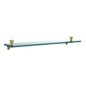 Foxtrot  Polished Brass Single Shelf