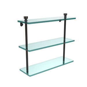 Oil Rubbed Bronze Triple glass Shelf 16 Inch