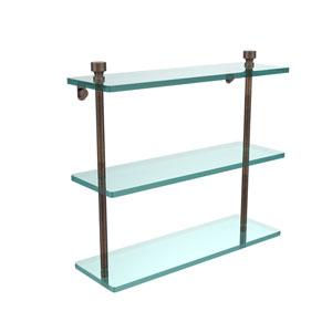 Venetian Bronze Triple glass Shelf 16 Inch